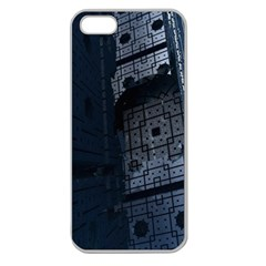 Graphic Design Background Apple Seamless Iphone 5 Case (clear)