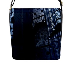 Graphic Design Background Flap Messenger Bag (l)
