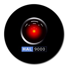 Hal 9000 Round Mousepads