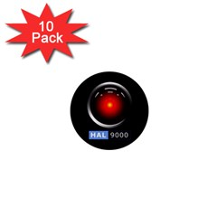 Hal 9000 1  Mini Buttons (10 Pack)