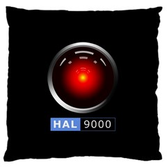 Hal 9000 Large Flano Cushion Case (two Sides)