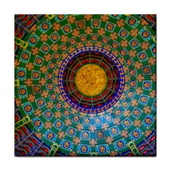Temple Abstract Ceiling Chinese Tile Coasters