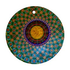 Temple Abstract Ceiling Chinese Ornament (round)