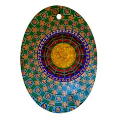 Temple Abstract Ceiling Chinese Ornament (oval)