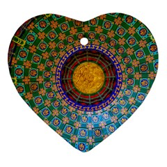 Temple Abstract Ceiling Chinese Ornament (Heart)