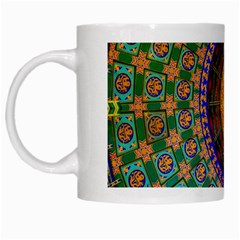 Temple Abstract Ceiling Chinese White Mugs