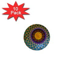 Temple Abstract Ceiling Chinese 1  Mini Buttons (10 pack)