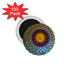 Temple Abstract Ceiling Chinese 1 75  Magnets (100 Pack)