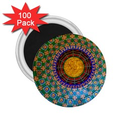 Temple Abstract Ceiling Chinese 2 25  Magnets (100 Pack)