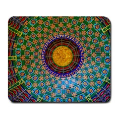 Temple Abstract Ceiling Chinese Large Mousepads