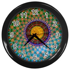 Temple Abstract Ceiling Chinese Wall Clocks (black)