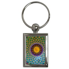 Temple Abstract Ceiling Chinese Key Chains (rectangle)