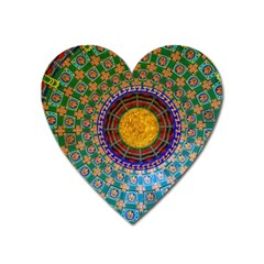 Temple Abstract Ceiling Chinese Heart Magnet