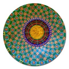 Temple Abstract Ceiling Chinese Magnet 5  (round)