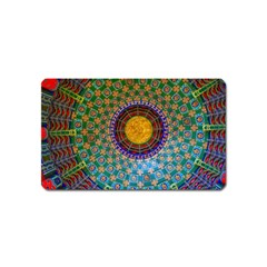 Temple Abstract Ceiling Chinese Magnet (Name Card)