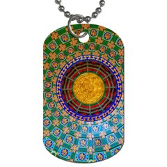 Temple Abstract Ceiling Chinese Dog Tag (One Side)