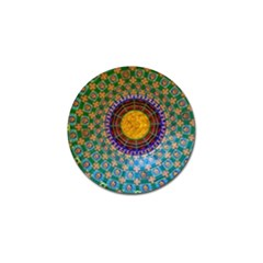 Temple Abstract Ceiling Chinese Golf Ball Marker