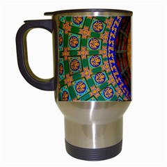 Temple Abstract Ceiling Chinese Travel Mugs (White)