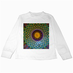 Temple Abstract Ceiling Chinese Kids Long Sleeve T Shirts