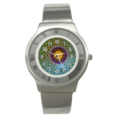 Temple Abstract Ceiling Chinese Stainless Steel Watch