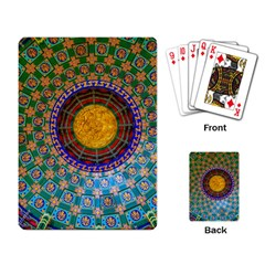 Temple Abstract Ceiling Chinese Playing Card