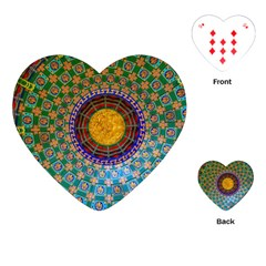 Temple Abstract Ceiling Chinese Playing Cards (Heart)