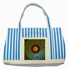 Temple Abstract Ceiling Chinese Striped Blue Tote Bag