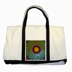 Temple Abstract Ceiling Chinese Two Tone Tote Bag
