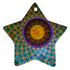 Temple Abstract Ceiling Chinese Star Ornament (Two Sides)
