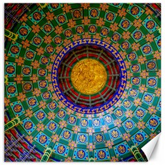 Temple Abstract Ceiling Chinese Canvas 16  x 16