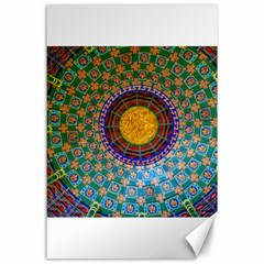Temple Abstract Ceiling Chinese Canvas 24  X 36