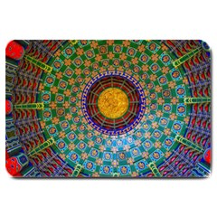 Temple Abstract Ceiling Chinese Large Doormat