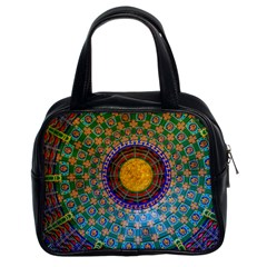 Temple Abstract Ceiling Chinese Classic Handbags (2 Sides)