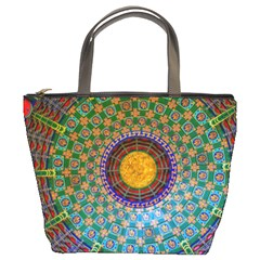 Temple Abstract Ceiling Chinese Bucket Bags