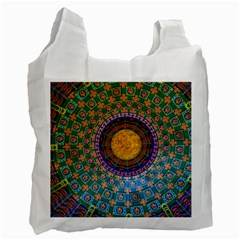 Temple Abstract Ceiling Chinese Recycle Bag (one Side)