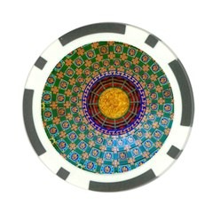 Temple Abstract Ceiling Chinese Poker Chip Card Guard (10 pack)
