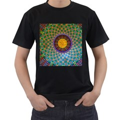 Temple Abstract Ceiling Chinese Men s T-Shirt (Black)