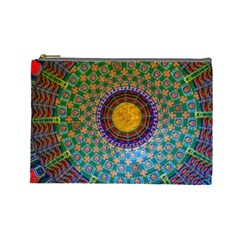 Temple Abstract Ceiling Chinese Cosmetic Bag (Large)