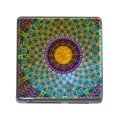 Temple Abstract Ceiling Chinese Memory Card Reader (Square)