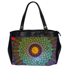 Temple Abstract Ceiling Chinese Office Handbags (2 Sides)
