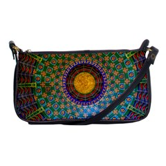 Temple Abstract Ceiling Chinese Shoulder Clutch Bags