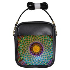 Temple Abstract Ceiling Chinese Girls Sling Bags