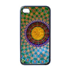 Temple Abstract Ceiling Chinese Apple iPhone 4 Case (Black)