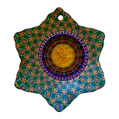 Temple Abstract Ceiling Chinese Snowflake Ornament (two Sides)