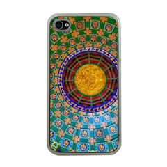 Temple Abstract Ceiling Chinese Apple iPhone 4 Case (Clear)