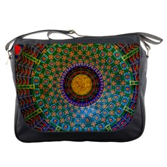 Temple Abstract Ceiling Chinese Messenger Bags