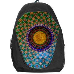 Temple Abstract Ceiling Chinese Backpack Bag