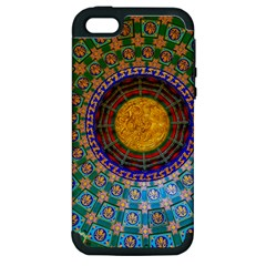 Temple Abstract Ceiling Chinese Apple Iphone 5 Hardshell Case (pc+silicone)