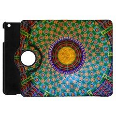 Temple Abstract Ceiling Chinese Apple iPad Mini Flip 360 Case
