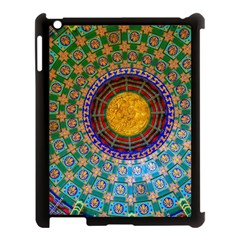 Temple Abstract Ceiling Chinese Apple iPad 3/4 Case (Black)
